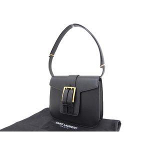 SAINT LAURENT Saint Laurent belt motif one shoulder bag leather black 20190621