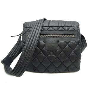 Chanel Coco Cocoon Ladies Shoulder Bag Nylon Black