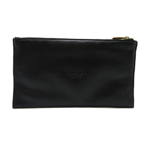 Chanel Cosmetic Pouch Ladies Polyurethane Black