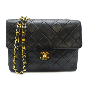 Chanel Matelasse Chain Shoulder 20 Ladies Bag Lambskin Black / Gold Hardware