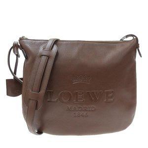 LOEWE leather shoulder bag brown