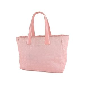 CHANEL Chanel New Travel Line Coco Mark Tote MM Handbag Nylon Canvas Pink 20200121