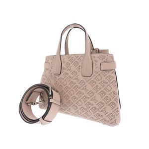 BURBERRY Burberry Leather Small Banner Punching Logo 2 Way Shoulder Handbag Pink Beige 20200111
