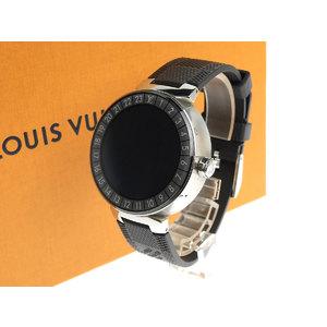 LOUIS VUITTON Louis Vuitton Tambour Horizon Damier Graffiti Watch Smart Black QA004Z 20190829