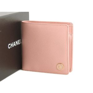 CHANEL Chanel Leather Cocomark Bi-fold Wallet Pink 9th 20191213
