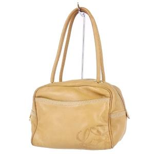 Loewe LOEWE smooth calf leather anagram handbag mini bag ladies beige