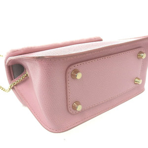 Furla FURLA Metropolis Nuvola fur chain shoulder bag pink