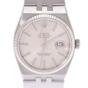 ROLEX Oysterquartz 17014 Boys WG SS watch quartz silver dial