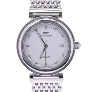 IWC SCHAFFHAUSEN Idabrucei Schaffhausen Da Vinci SL 3528-002 Mens SS Watch Automatic White Dial