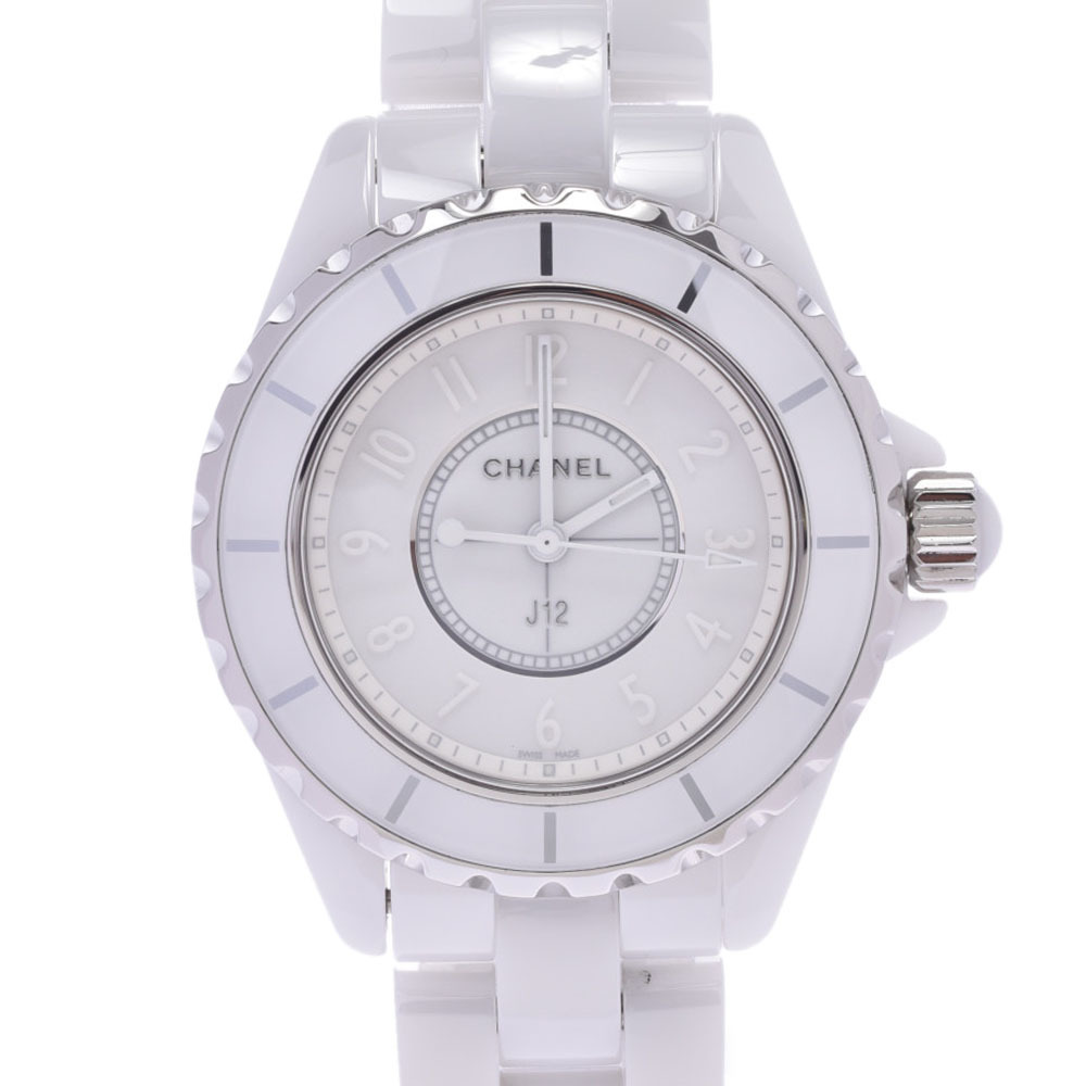 CHANEL Chanel J12 White Phantom LTD Edition Ceramic Mid Size Watch H3442