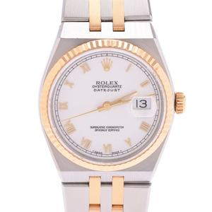 ROLEX Rolex Datejust 17013 Men's SS YG Watch Quartz White Dial