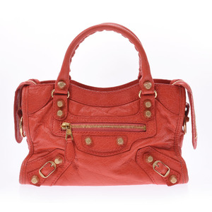 Balenciaga Giant Mini City Orange 309544 Ladies Leather 2WAY Bag