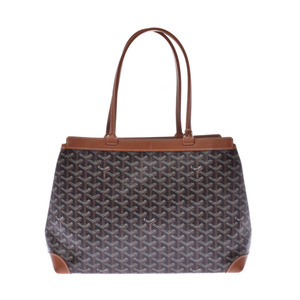 GOYARD Goyal Belcious PM Black Brown Unisex PVC Leather Tote Bag
