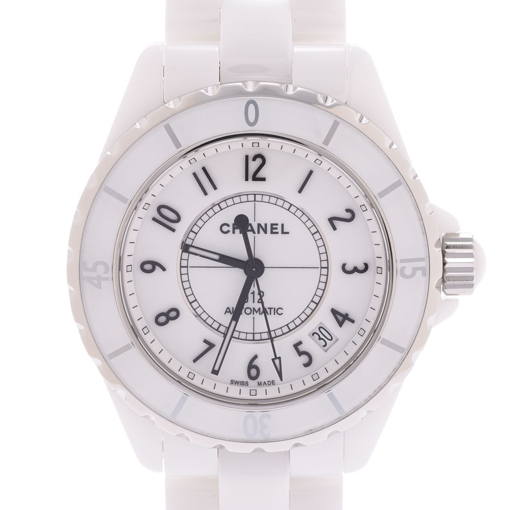 CHANEL Chanel J12 38mm Mens Watch White Dial