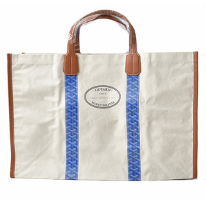 Goyal Tote Bag Limited GOYARD Reversible Mediterranee Saint-Tropez Herringbone Blue