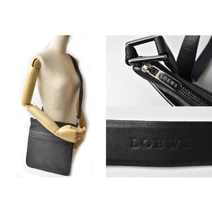 Loewe shoulder bag messenger LOEWE men's coated canvas anagram black