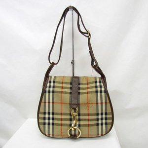 BURBERRY'S Burberry Shoulder Bag Nova Check Plaid Beige Brown One Sling Crossbody Canvas