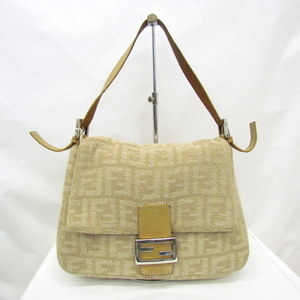 FENDI Fendi One Shoulder Bag Mamma Bucket Zucca Pattern 26325 Knit Total Beige Handbag Fall Winter Ladies 404546 RYB5524