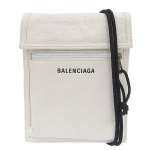 Balenciaga Explorer Pochette Shoulder Bag White Leather