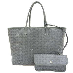GOYARD Goyal Saint Louis Tote Bag Gray Leather