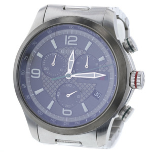 Gucci QZ black dial watch YA126238 stainless steel silver men's GUCCIK90223159 PD3