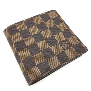 Louis Vuitton Damier Portfoil Marco Bi-Fold Wallet Canvas Even Brown Men's LOUIS VUITTON K90423022 PD3