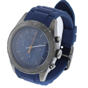 Coach Sullivan Sports Quartz Blue Dial Watch 14602119 Stainless Steel Rubber Men's COACH K90223183 PD3