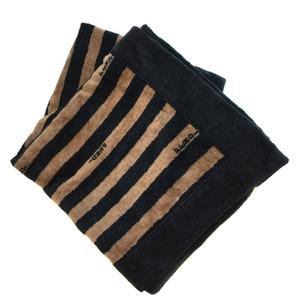 Fendi towel beach stripe wall hanging cotton black ladies FENDI K81128354 PD1