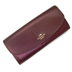 Coach long wallet F53570 leather with removable pouch ladies COACHK90401527 PD3