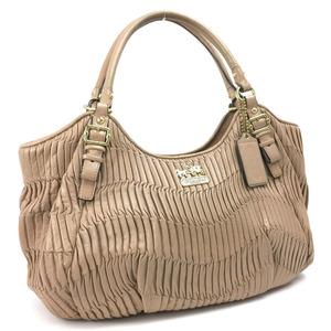 Coach shoulder tote bag 18603 leather pink beige ladies COACH K90316900 PD3