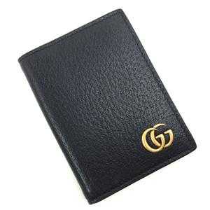 Gucci GG Marmont Card Case Business Holder 428737 Leather Black Men GUCCIK90823482 PD1