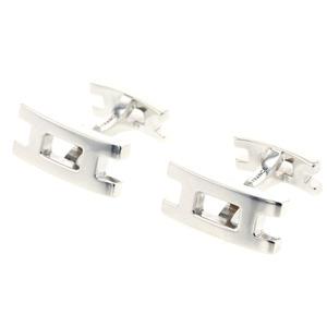 Hermes H motif parallel cufflinks silver 925 men's HERMES K90823713 PD1