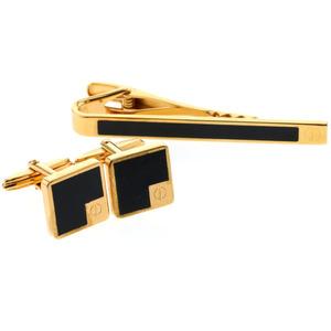 Dunhill tie pin set cufflinks GP gold men K90823732 PD1