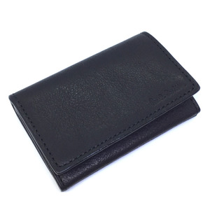 Paul Smith card case business holder PSU563 cowhide leather black men K91123259