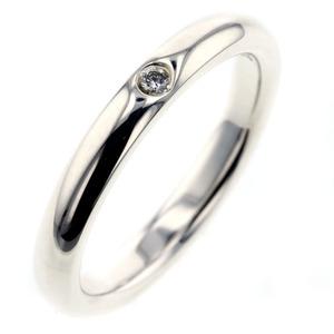 Tiffany & Co Elsa Peretti Ring Stacking Band Silver 925 Diamond 1P 9 Ladies TIFFANY Co. K91023997