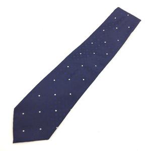 Louis Vuitton Cravat Monogram Flower Dot Tie 100% Silk Blue Men's LOUIS VUITTON K90923359