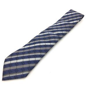 Gucci GG pattern stripe Kering tag tie blue gray men's GUCCI K90823465 PD1