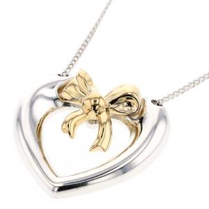 Tiffany Necklace Ribbon Heart Combination Silver 925 K18 Yellow Gold Ladies TIFFANY & Co. K90923562
