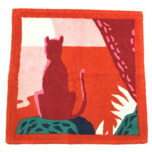 HERMES towel Carre de plage meditation 19SS H102860M 03 100% cotton orange K90923388