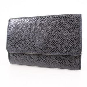 Louis Vuitton Multure 6 M30532 Taiga Aldoise Black Men's Key Case