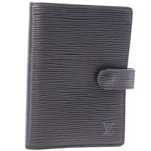 Louis Vuitton Agenda PM R20052 Epi Leather Noir Black Unisex Notebook Cover