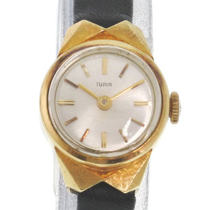 TUDOR 18K Gold Leather Hand-Winding Ladies Watch