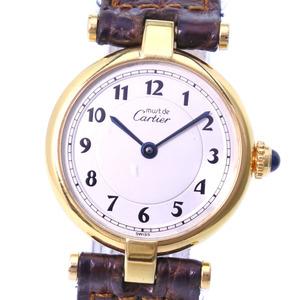 CARTIER Must Colisee Vermeil Gold Plated Quartz Ladies Watch 590004