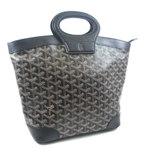 Goyard Beluga PM AMABELUGA PVC coated canvas leather black ladies handbag