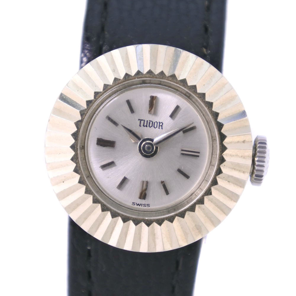 TUDOR Chameleon 1703 Stainless Steel Leather Hand-Winding Ladies Watch