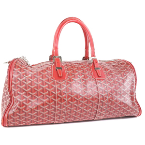 Goyard Croix Jules 45 CROISIERE45 PVC Coated Canvas Red Unisex Boston Bag