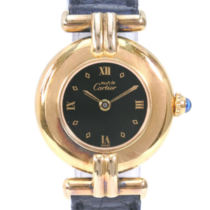 CARTIER Must Colisee Vermeil Gold Plated Quartz Ladies Watch 590002