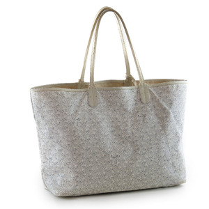 Goyard  Saint-Louis PM PVC coated canvas white unisex tote bag