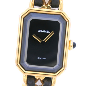CHANEL Premiere Size M Gold Plated Quartz Ladies Watch H0001