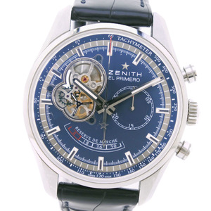 ZENITH Charles Belmo Tribute Chronomaster El Primero 03.2085.4021 51.C700 Stainless Steel leather Automatic Mens Watch